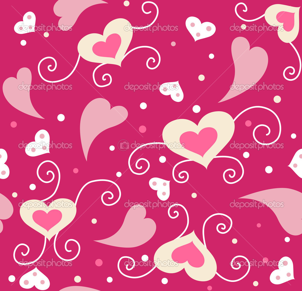 Cute valentine seamless background for your design  Stock Photo #1689716
