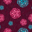 Floral swirl seamless background — Stock Photo