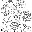 Foto Stock: Cute doodle background