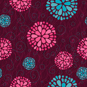 Floral swirl seamless background — Photo