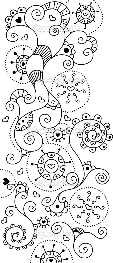 Cute doodle background for your design — Stock Photo #1790834