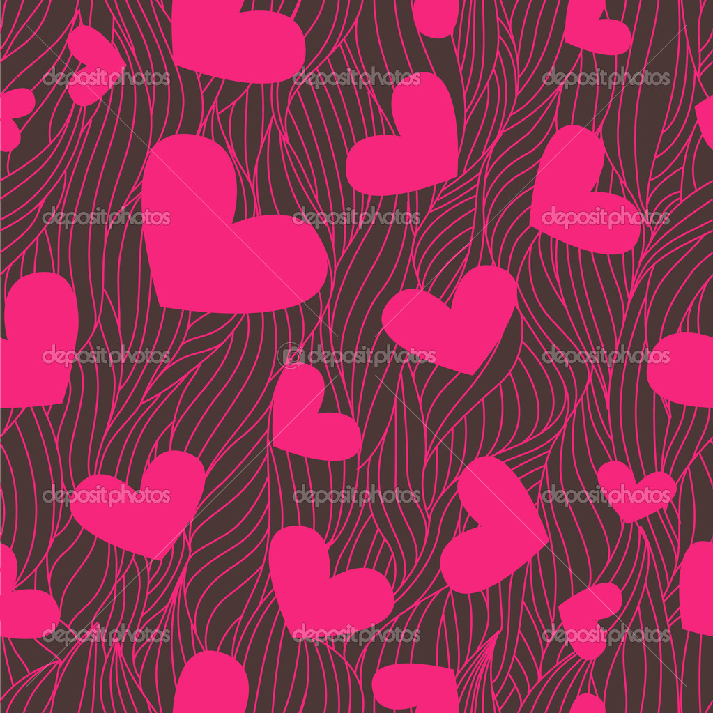 Cute valentine seamless background for your design — Stock Photo #1790932