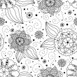 Seamless floral background — Stockfoto