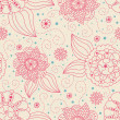 Seamless floral background — Foto Stock