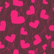 Heart seamless background - Foto Stock
