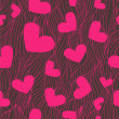 Heart seamless background - Stock Photo