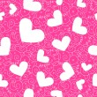 Stock Photo: Heart seamless background