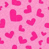 Bezešvé pozadí srdce — Stock fotografie