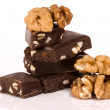 Nuts and chocolate — Stockfoto