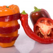 Red pepper isolated - Lizenzfreies Foto