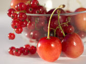 Red berries lay in a plate — Stock Photo