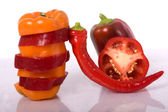 Red pepper isolated — Stock Photo