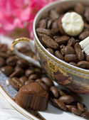Chocolate end coffee — Stock Photo