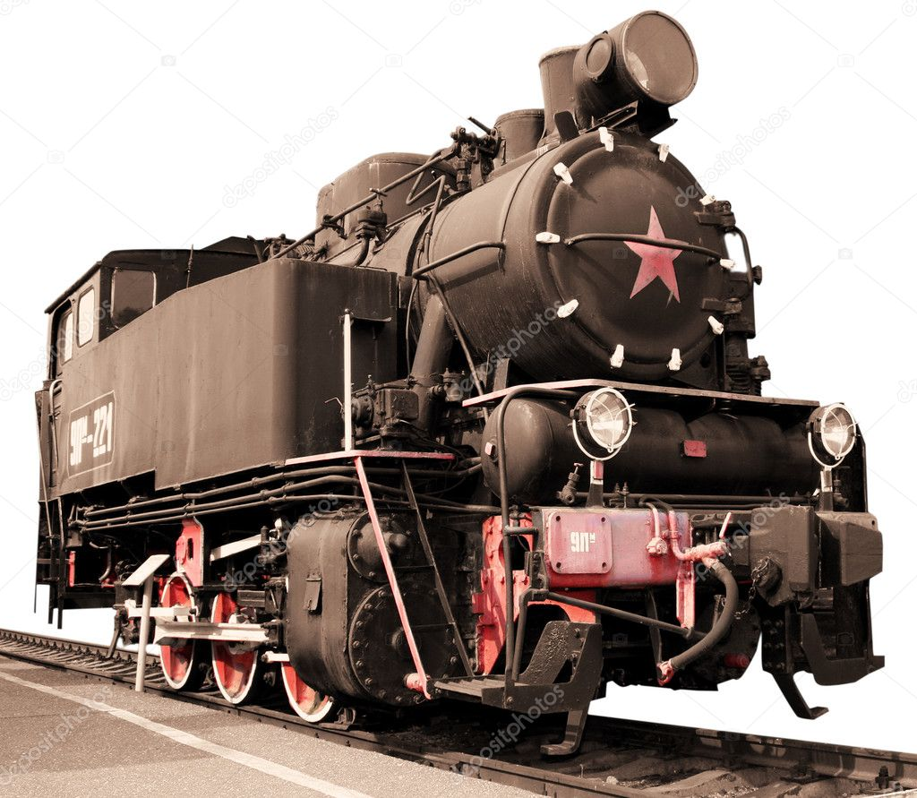 Retro train with a star  Stock Photo #2453967
