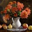 Still life with autumn flowers — Foto de Stock