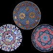 Turkish ceramics, decorated plates — Foto Stock