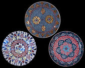 Turkish ceramics, decorated plates — Stock Photo