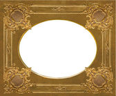 Elements of a carved frame gold — Stock Photo