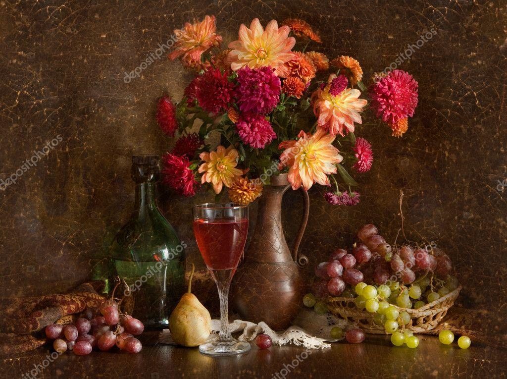 Фото красивые натюрморты из осенние цветы