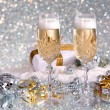 Glasses of champagne - Foto Stock
