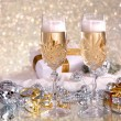 Royalty-Free Stock Photo: Glasses of champagne