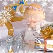 Royalty-Free Stock Photo: Angel and gifts