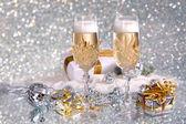 Glasses of champagne — Stock Photo