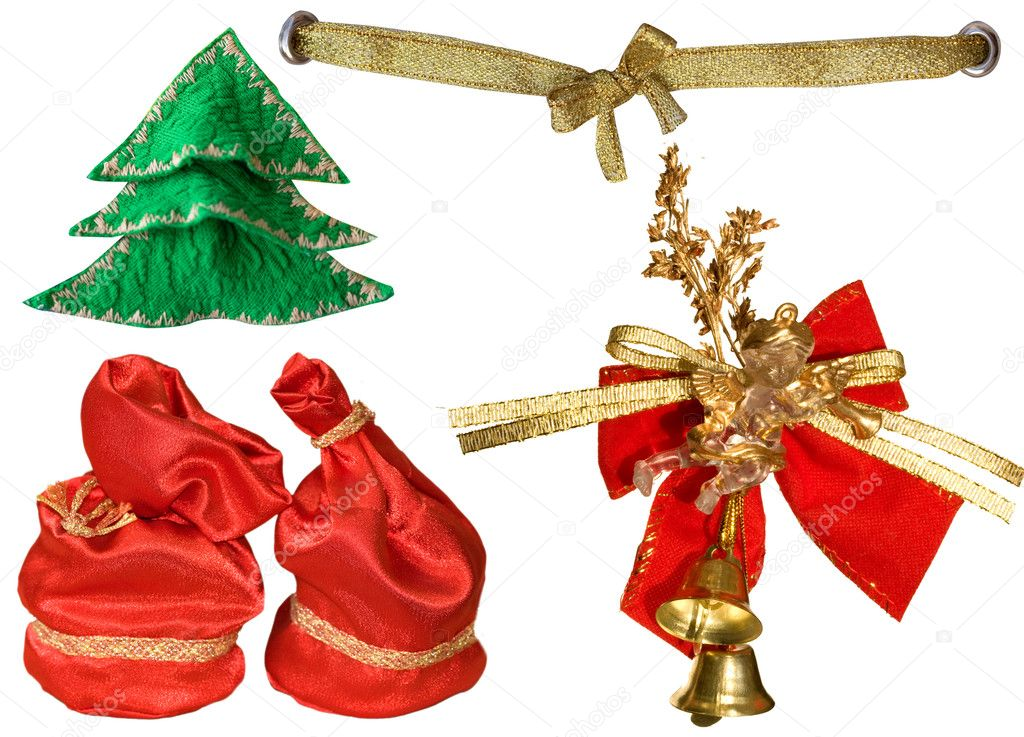 Praznichnye ribbons and decorations  Stock Photo #2470174