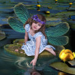 Foto Stock: Elf girl with wings