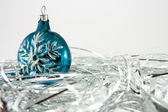 Snowflake Christmas ornaments — Stock Photo