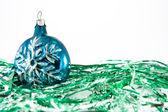 Snowflake Christmas ornaments — Stock Photo