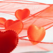 Some reds hearts — Stock Photo
