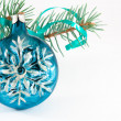 Snowflake Christmas ball — Stock Photo