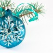 Stock Photo: Snowflake Christmas ball
