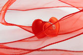 Two bound hearts — Stock Photo