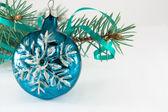 Snowflake Christmas ball — Stock Photo