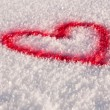 Snow heart - Stock Photo