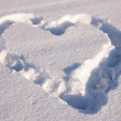 Snow heart — Stock Photo