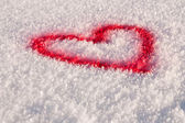 Snow heart — Stockfoto