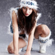 Stock Photo: Winter wild woman