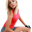 Healthy Fitness Woman Working Out — Stock Photo #1628948
