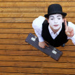 Mime and travel — Stok fotoğraf