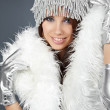 Portrait of a winter fashion woman — Stock Photo #1640151