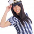 Captain woman - Stock Photo