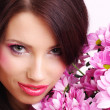 Woman with flowers — Stock Photo #1656290