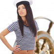 Captain woman — Stock Photo