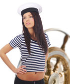 Captain woman — Stockfoto