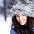 Winter portrait of woman — Stock Photo
