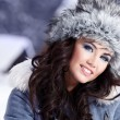 Winter portrait of woman — Foto Stock
