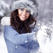 Winter portrait of woman — Stock Photo #1660966